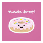 "Donut 5.25"" Square Invitation Card"