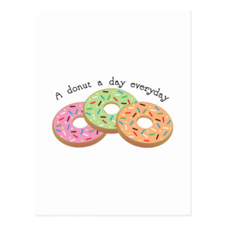 Donut_A Donut A Day Everyday Post Card