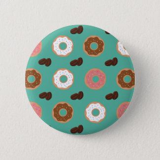Donut and Coffee Beans Button