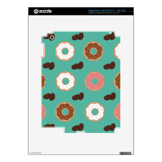 Donut and Coffee Beans iPad 3 Decals