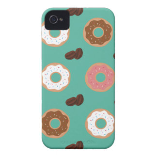 Donut and Coffee Beans iPhone 4 Case