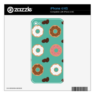 Donut and Coffee Beans iPhone 4S Decals
