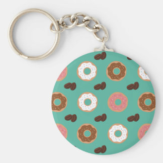 Donut and Coffee Beans Keychain
