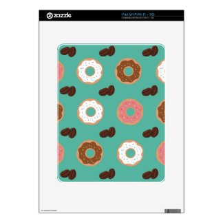 Donut and Coffee Beans Skin For The iPad