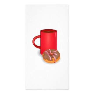 Donut and Coffee Photo Card Template