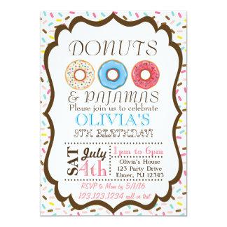 Donut and Pajamas Invitation