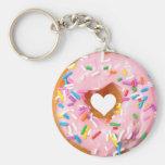 Donut Basic Round Button Keychain