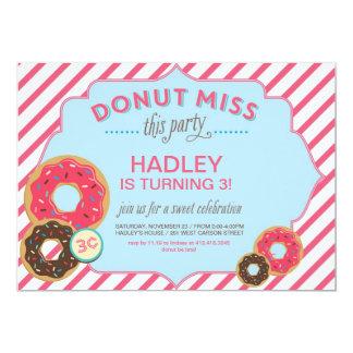 Donut Birthday Invitation