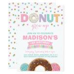 Hand shaped Donut Birthday Invitation Donut Grow Up Party
