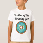 "Donut Birthday Party Brother T-Shirt<br><div class=""desc"">Celebrating a birthday is a family affair! Get matching shirts for the whole family so you can celebrate in style. Not only is it fun to match the theme,  but it let's other parents easily know who the party hosts are! These Donut Party shirts are the perfect touch!</div>"