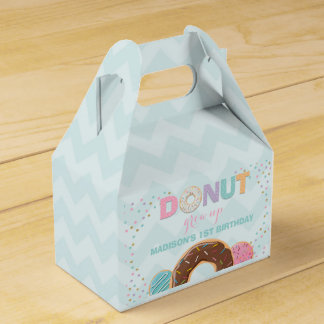 Donut Birthday Party Favor Box Donut Grow Up Party