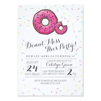 Donut Invitations Announcements Zazzle