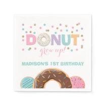 Donut Birthday Party Napkin Donut Grow Up Party