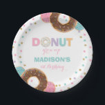 """Donut Birthday Party Paper Plate 7&quot; Donut Grow Up<br><div class=""""desc"""">Donut Birthday Party 7&quot; Paper Plate.  All designs are &#169; PIXEL PERFECTION PARTY LTD</div>"""
