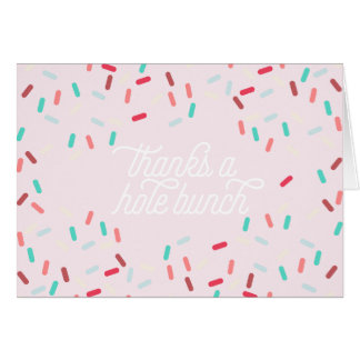 donut birthday party thank you card