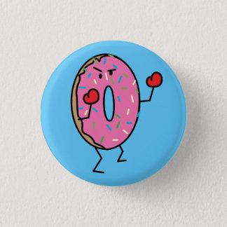 Donut Boxer Fighter dessert fried dough sugar Pinback Button