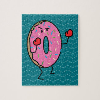 Donut Boxing Fighter with Red Gloves Jigsaw Puzzle