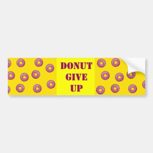 Donut bumper sticker