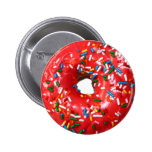 Donut Buttons 2 Inch Round Button