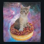 "Donut cat-cat space-kitty-cute cats-pet-feline bandana<br><div class=""desc"">cat ,  donuts , kittens , &quot;tabby cat&quot; , &quot;funny cats &quot;, &quot;pussycat&quot; , &quot;kitty cat &quot;, &quot;space cat&quot; , &quot;cats in space&quot; , &quot;cat donut &quot;</div>"