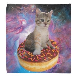 Donut cat-cat space-kitty-cute cats-pet-feline bandana