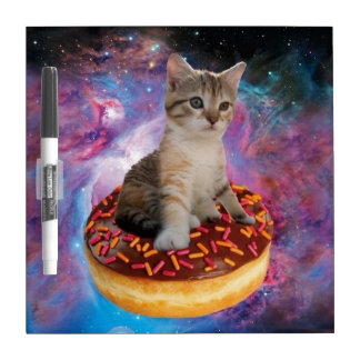 Donut cat-cat space-kitty-cute cats-pet-feline Dry-Erase board