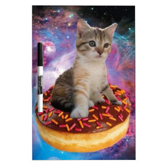Donut cat-cat space-kitty-cute cats-pet-feline dry erase board