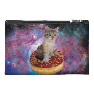 Donut cat-cat space-kitty-cute cats-pet-feline travel accessory bag