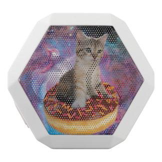 Donut cat-cat space-kitty-cute cats-pet-feline white bluetooth speaker