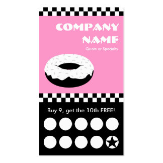 donut checkers punchcard Double-Sided standard business cards (Pack of 100)