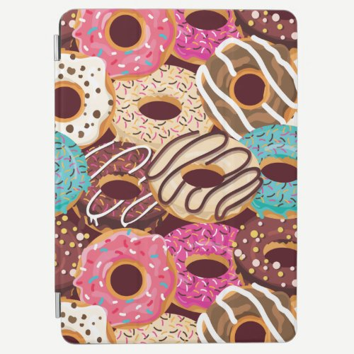 Donut, chocolate donut & chocolate to snack on iPad air cover