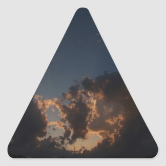 Donut Cloud Burst Triangle Sticker