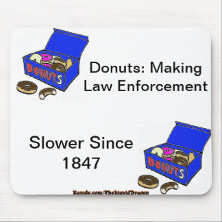 Donut/Cop History Mouse Pad