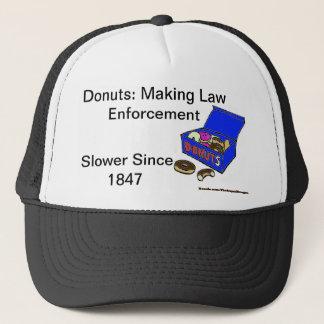 Donut/Cop History Trucker Hat