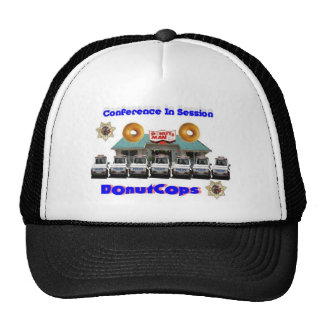 Donut Cops Conference In Session Hat