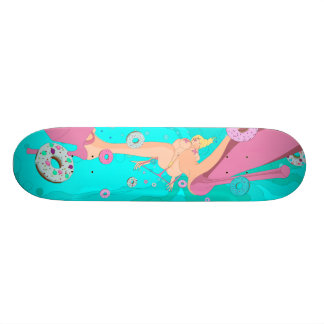 donut crazy skateboard deck