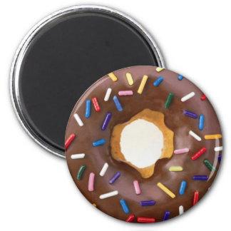 donut design 2 inch round magnet