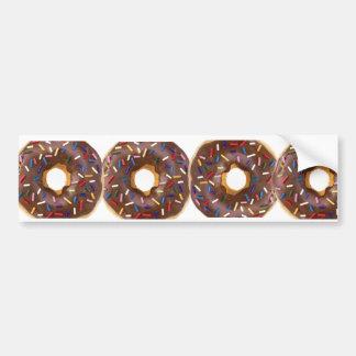 donut design car bumper sticker
