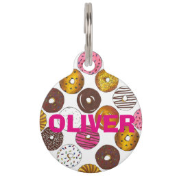 Donut Doughnut Personalized Donuts Pet Dog Tag
