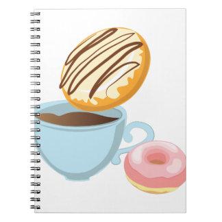 Donut Dunk Spiral Notebooks