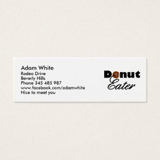 Donut eater mini business card