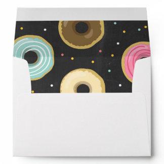 Donut Envelope Doughnut Chalk Sweet pink blue