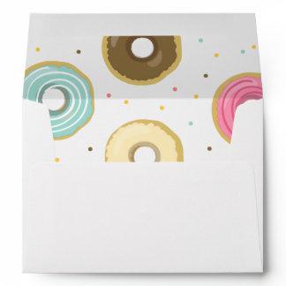 Donut Envelope Doughnut Sweet pink blue Girl