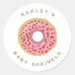 Donut Envelope seal sticker Baby sprinkle Doughnut