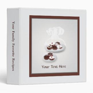 Donut Family Recipe Cookbook Binder