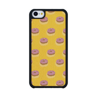Donut Fashion Carved® Maple iPhone 5C Case