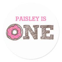 Donut First Birthday Sticker