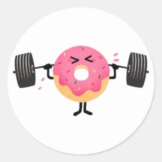 Donut Fitness Classic Round Sticker
