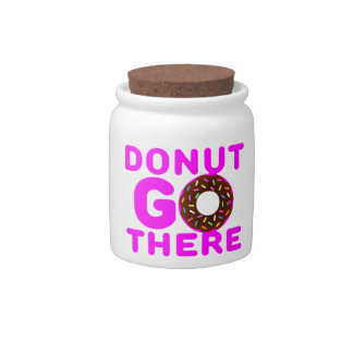 Donut Go There Candy Jar