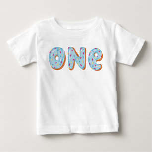 46ba1fa89 Donut Grow Up First birthday one Baby T-Shirt